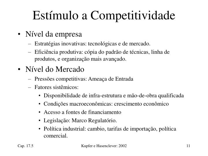Estímulo a Competitividade