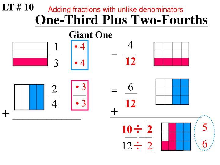 One-Third Plus Two-Fourths
