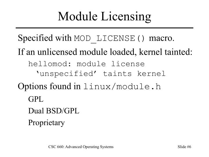 Module Licensing