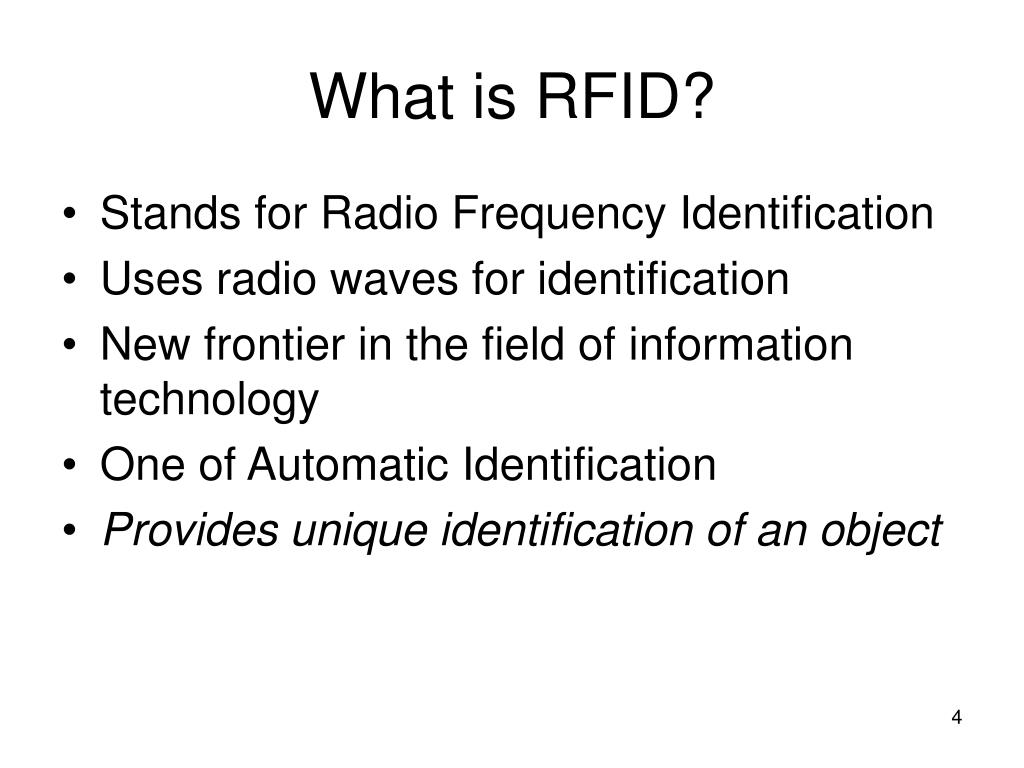 PPT - RFID Technology and Threat Modeling PowerPoint