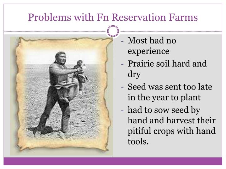 Problems with Fn Reservation Farms