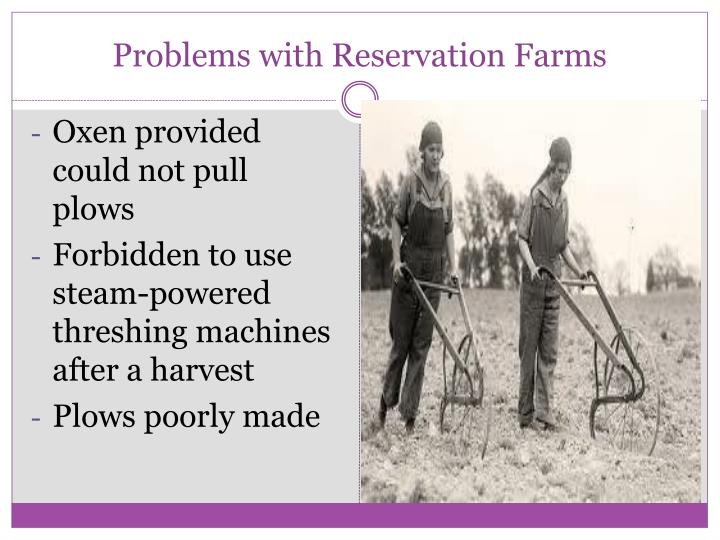 Problems with Reservation Farms