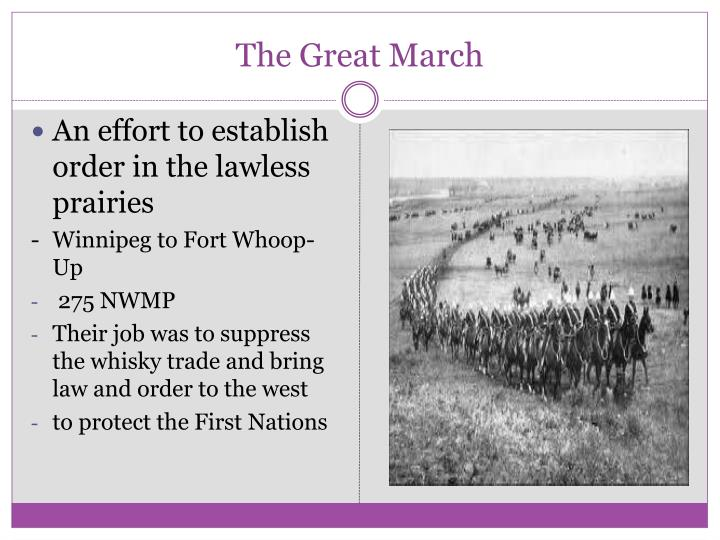 The great march