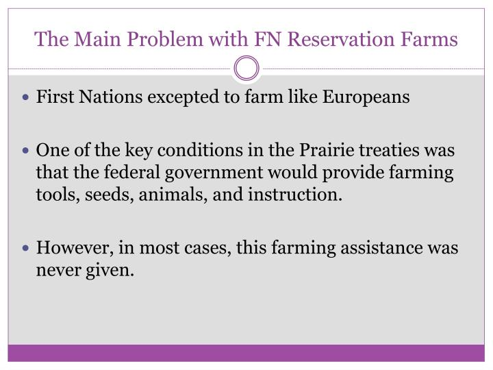 The Main Problem with FN Reservation Farms