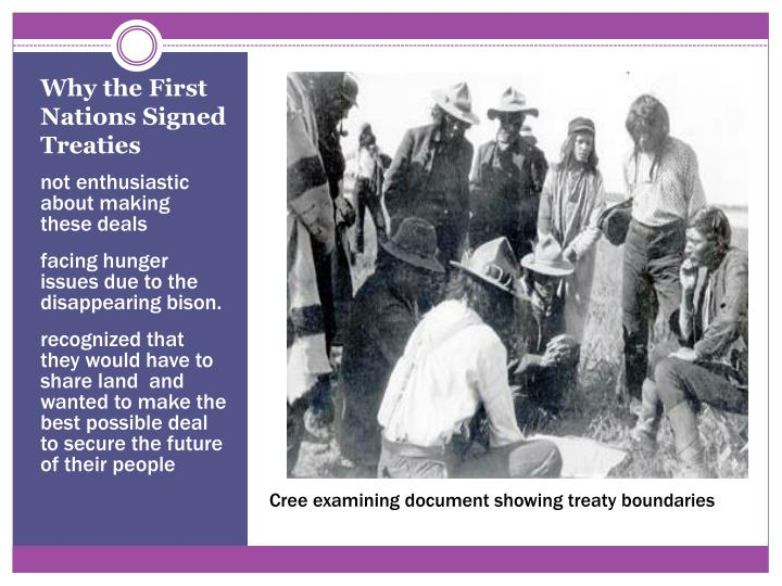 Why the First Nations Signed Treaties