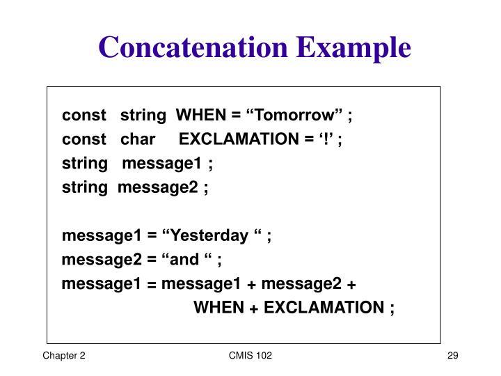Concatenation Example