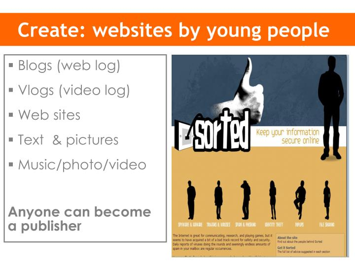Create: websites by young people