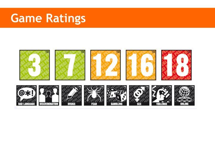 Game Ratings