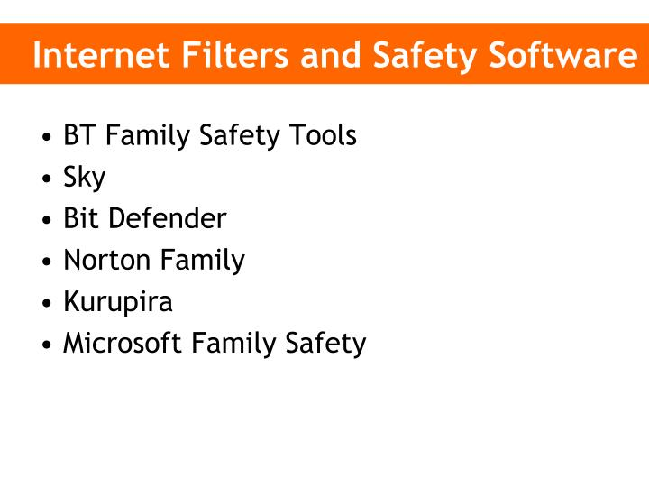 Internet Filters and Safety Software