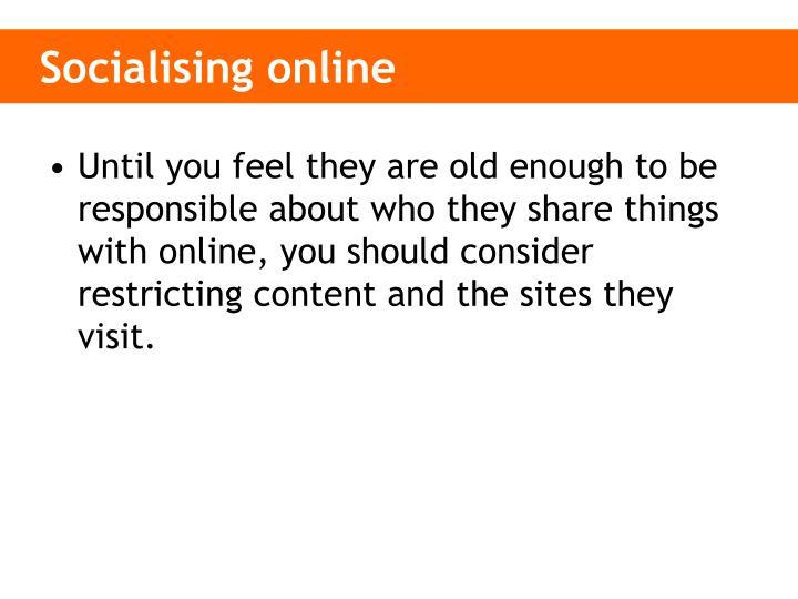 Socialising online