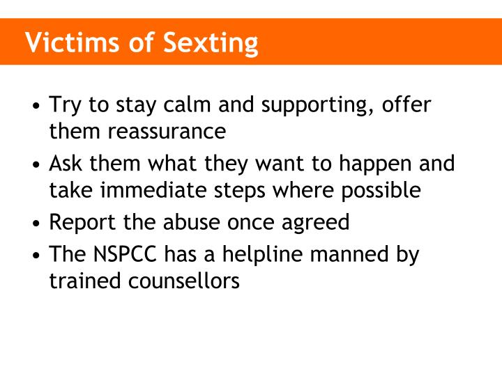 Victims of Sexting
