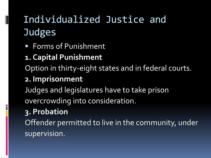 Individualized Justice and Judges