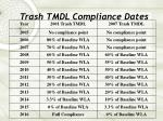 trash tmdl compliance dates