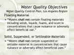 water quality objectives water quality control plan los angeles region