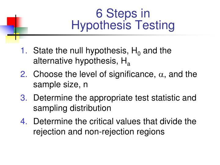 6 Steps in