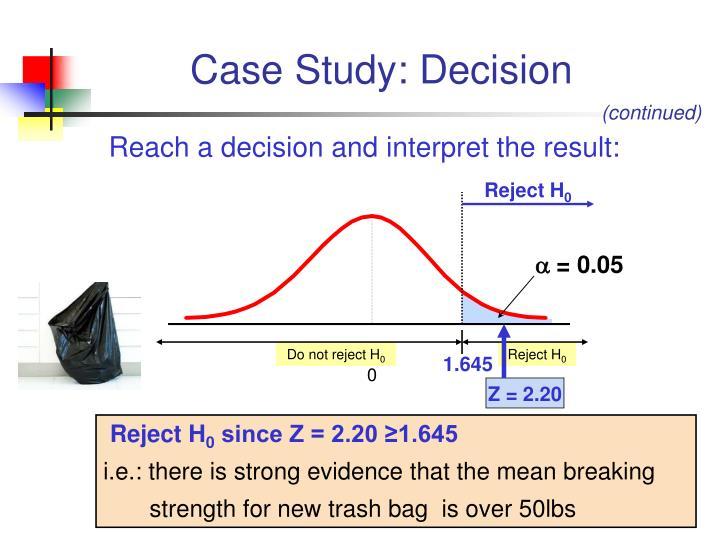 Case Study: Decision
