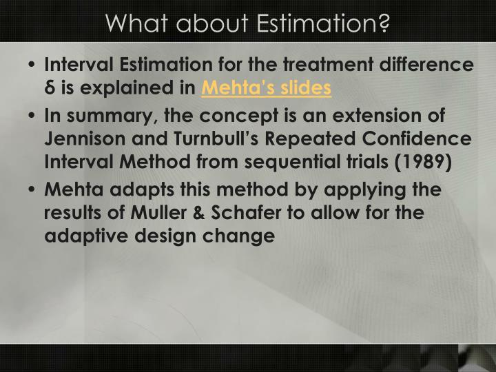 Interval Estimation for the treatment difference