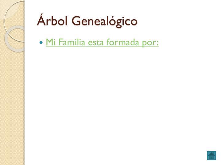 Rbol geneal gico