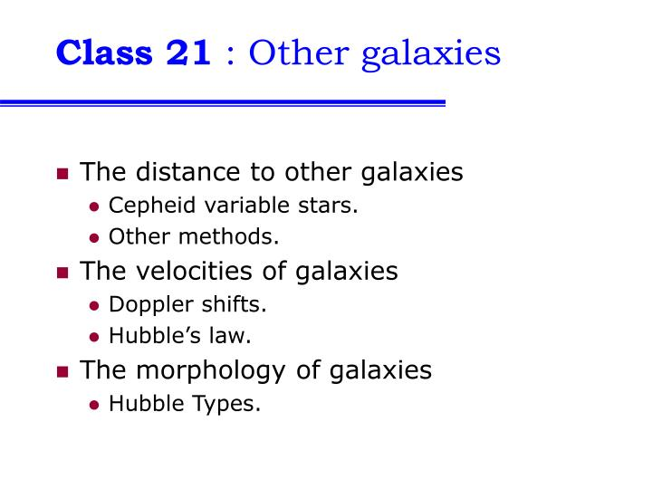 class 21 other galaxies n.