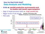 how are real grids used data analysis and modeling