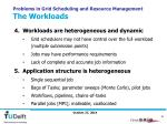 problems in grid scheduling and resource management the workloads