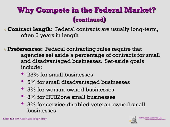 Why Compete in the Federal Market?