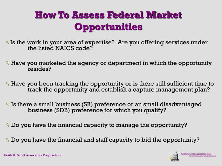 How To Assess Federal Market