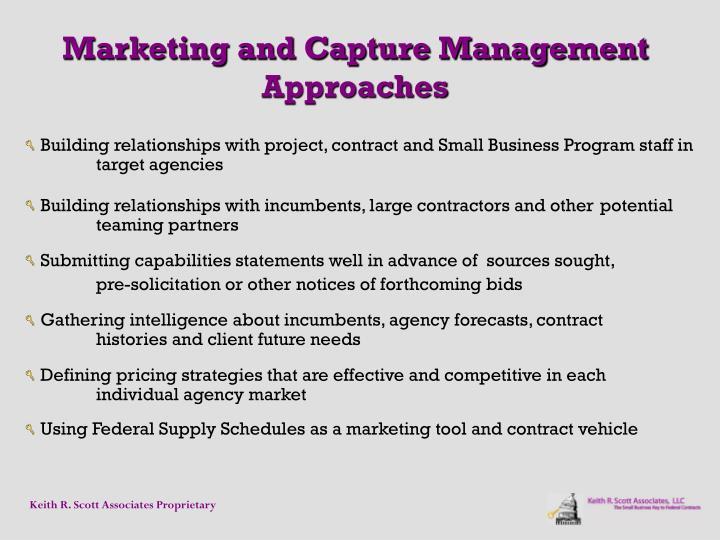 Marketing and Capture Management