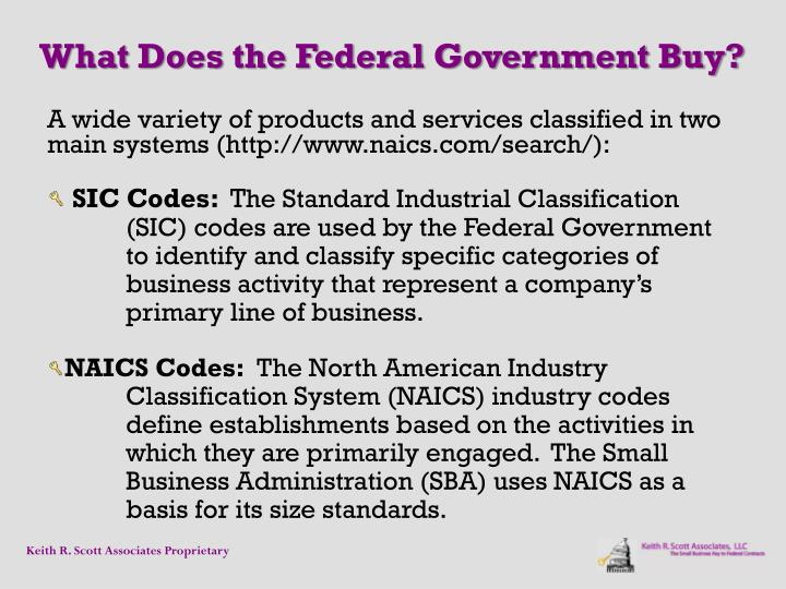 What Does the Federal Government Buy?