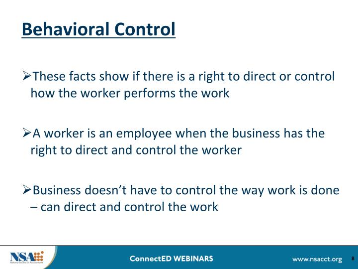 Behavioral Control