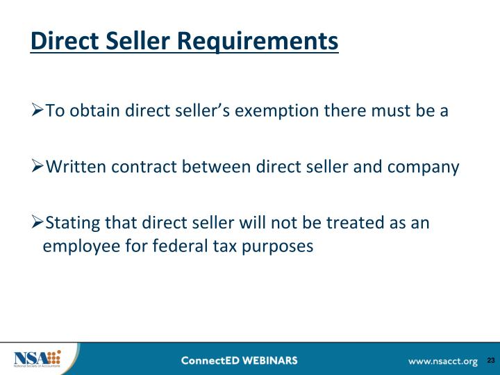 Direct Seller Requirements