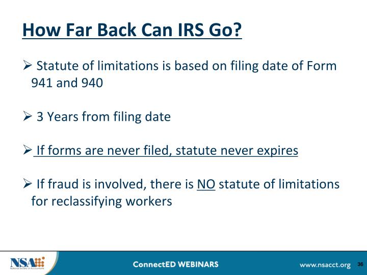 How Far Back Can IRS Go?