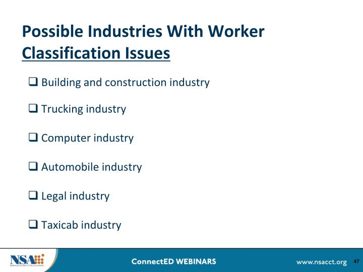 Possible Industries With Worker