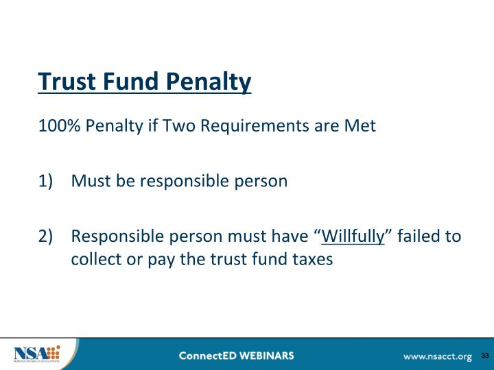 Trust Fund Penalty