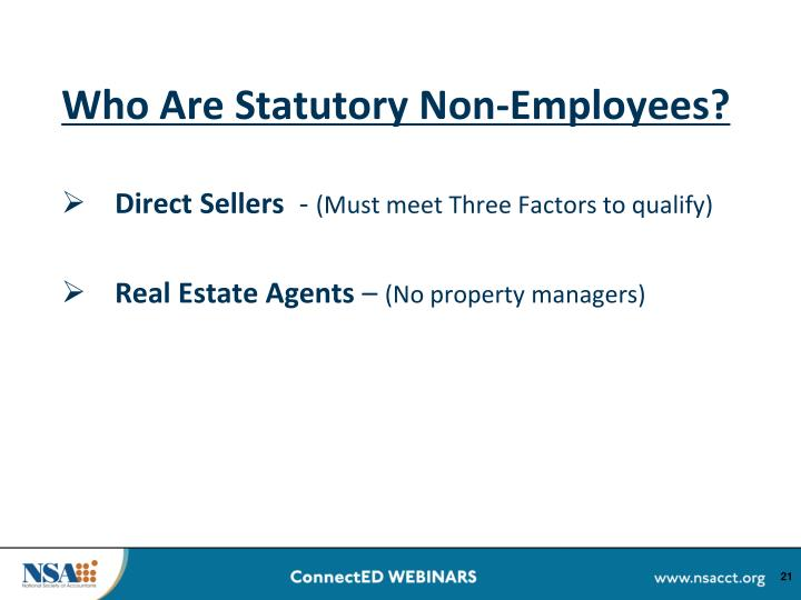 Who Are Statutory Non-Employees?
