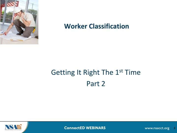 Worker classification