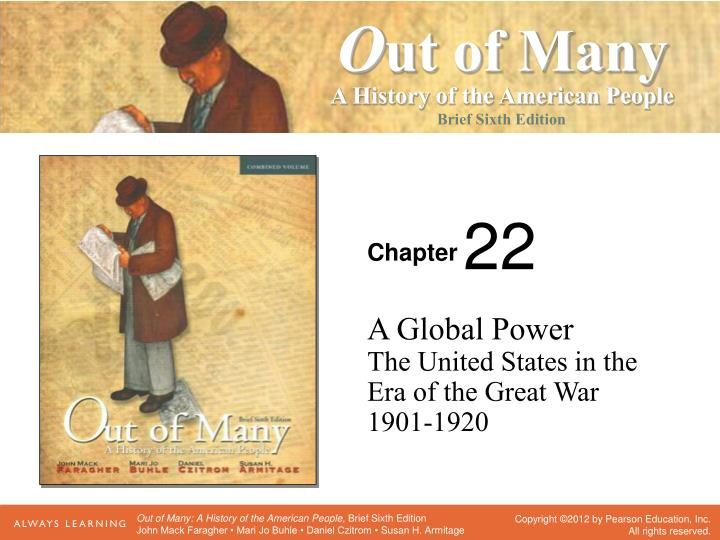 a global power the united states in the era of the great war 1901 1920 n.