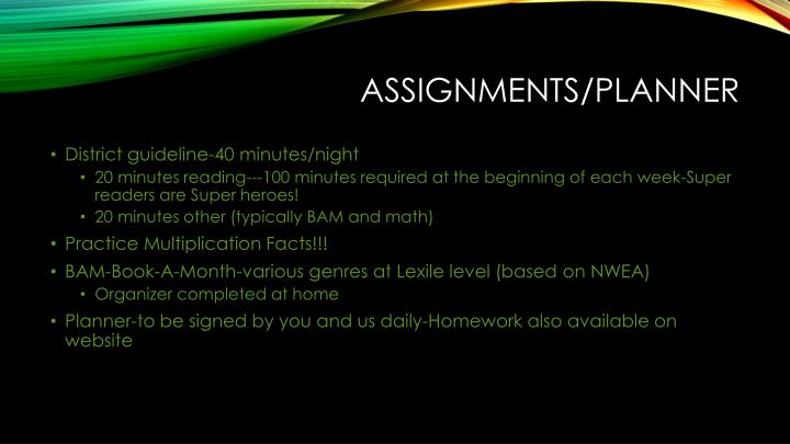Assignments/Planner