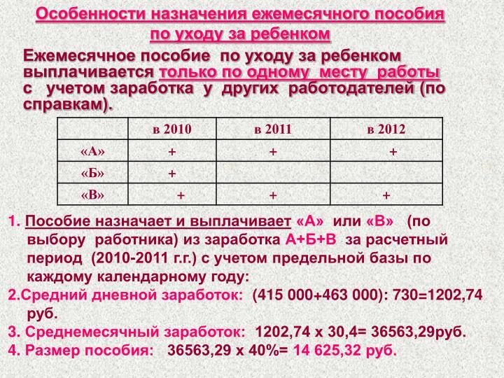 Зарегистрировавшись в качестве безработной, до наступления отпуска по беременности и родам, женщина будет получать пособие, минимальная сумма которого на год составляет рублей, а максимальный размер — рублей.