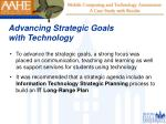 advancing strategic goals with technology