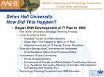 seton hall university how did this happen