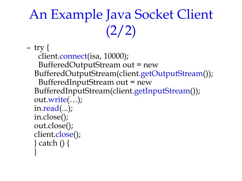Java Socket Client Example