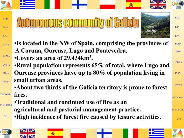 Autonomous community of Galicia