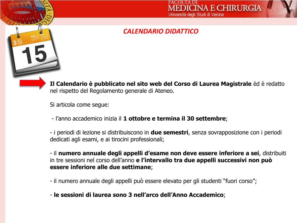 Calendario Didattico Univr Economia.Ppt Universita Degli Studi Di Verona Powerpoint
