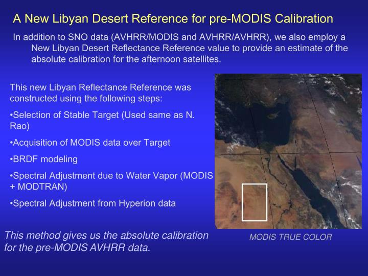 A New Libyan Desert Reference for pre-MODIS Calibration