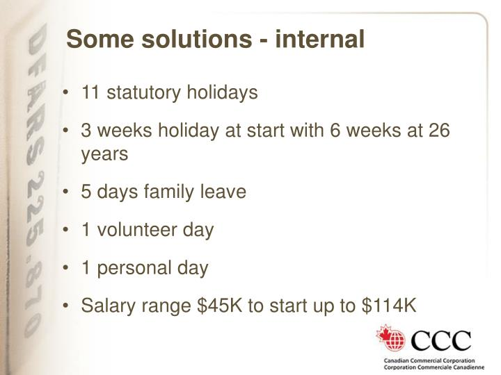Some solutions - internal