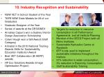 10 industry recognition and sustainability