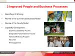 3 improved people and business processes