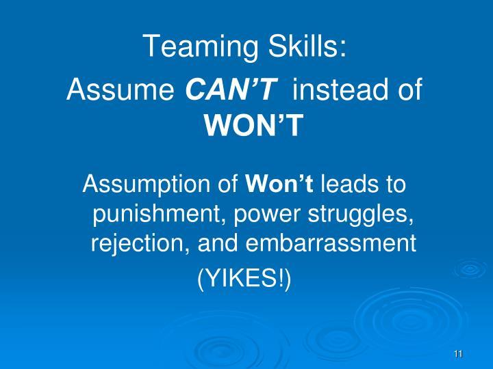 Teaming Skills: