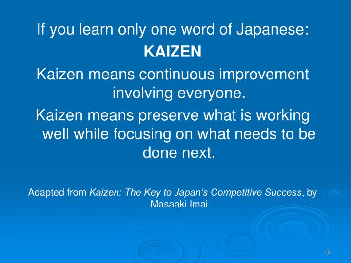 If you learn only one word of Japanese: